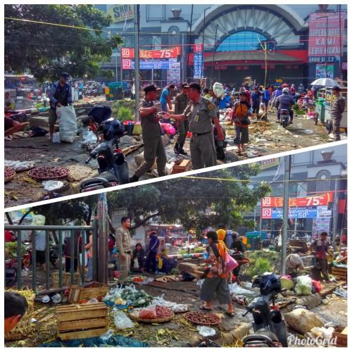 Penertiban PKL Jalan raya Cibinong